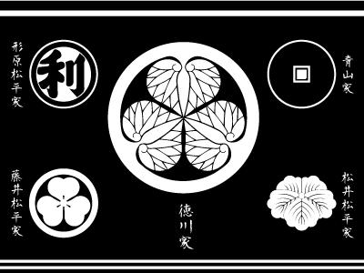 篠山城の歴代藩士の家紋